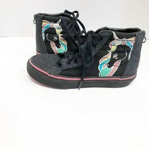 Vans off the Wall Black Sparkly Unicorn Sneakers